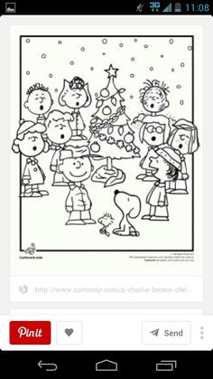 Peanuts sing together with tree