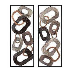 Metallic Chain Panel Metal Plaques, Set of 2 | Kirklands