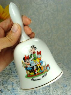 Bell / Disney Bell / Collectible Bell / Porcelain Bell / Vintage Bell / Limited Addition Bell with M