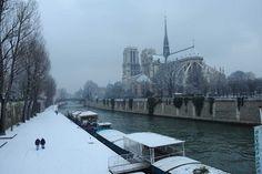 Paris sous la neige le 20 Janvier 2013 Bonjour Paris facebook