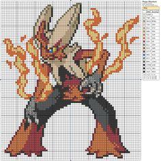 Mega Blaziken Pixel Art