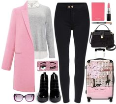 Airport Style: Pretty In Pink
