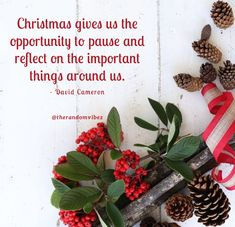 """""""Christmas gives us the opportunity to pause and reflect on the important things around us.""""- David Cameron #Christmasquotes #Merrychristmasquotes #Shortchristmasquotes #2020Christmasquotes #Merrychristmas2020quotes #Christmasgreetings #Inspirationalchristmasquotes #Cutechristmasquotes #Christmasquotesforfriends #Warmchristmaswishes #Bestchristmasquotes #Christmasbiblequotes #Christmascaptions #Festivechristmasquotes #Merrychristmasimages #Merrychristmaspictures #Santaclausquotes #therandomvibez Short Christmas Quotes, Christmas Quotes Images, Christmas Quotes For Friends, Christmas Captions, Merry Christmas Pictures, Christmas Bible, Christmas 2017, Christmas Wishes, Christmas Greetings"""