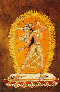 Vajrayogini ~ Heart of Wildness & Gentleness since she is yellow, i am assuming she is affiliated with jambhala, the wealth diety of the north Tibetan Mandala, Tibetan Art, Tibetan Buddhism, Buddhist Wisdom, Buddhist Symbols, Buddhist Art, Shiva, Frog Illustration, Thangka Painting