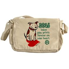 Dogs Leave Paw Prints Messenger Bag