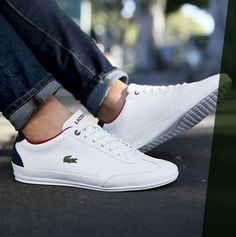 Lacoste Sneakers, Lacoste Shoes Mens, Sneaker Regal, Mens Fashion Shoes, Sneakers Fashion, Designer Sneakers, Best White Sneakers, Socks Outfit, Cl Shoes