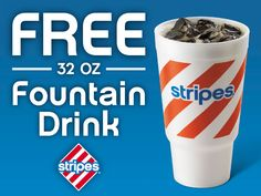If you live near a Stripes convenience store in Texas, Oklahoma, or New Mexico print and redeem this coupon for