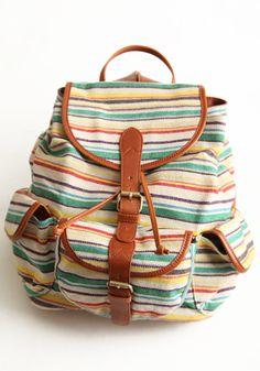 Wanderlust Striped Backpack