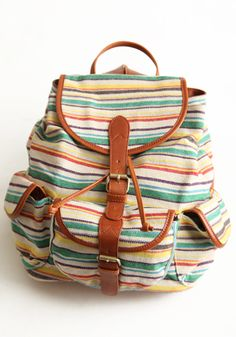 Wanderlust Striped Backpack