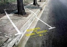 Reserved for drunk drivers.  Street art 000