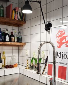 Kitchen Interior, Kitchen Decor, Kitchen Design, Kitchen Wall Tiles, Decorating Small Spaces, Interior Decorating, Interior Design, Interior Paint, Knoxhult Ikea