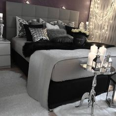 gray bedroom with pop of color ; gray bedroom ideas with pop of color ; gray bedroom ideas for couples ; Suites, Dream Rooms, Bedroom Inspo, Bedroom Inspiration Cozy, Bedding Inspiration, Bedroom Retreat, Beautiful Bedrooms, New Room, Luxury Bedding