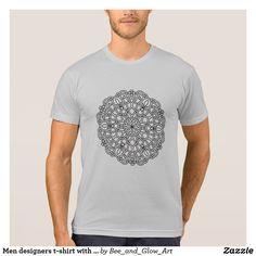 Men designers t-shirt with Mandala