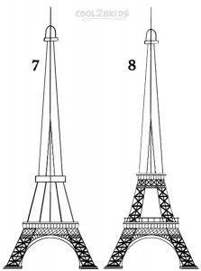how to draw tour eiffel
