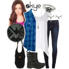 """Agents of SHIELD: Skye"" by mk-style on Polyvore"
