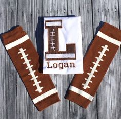 Personalized Football Shirt and Leg Warmer by LilStytchesBoutique