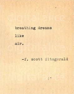VINTAGE TYPEWRITER PRINT f Scott Fitzgerald Quote by DigitalAlice