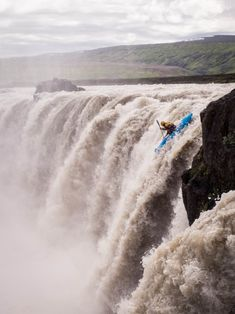 """A kayaker descends Selfoss in Iceland. By ThirdCultureKid. """