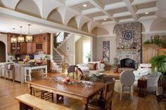 Custom ceiling design.