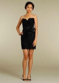 Sweetheart Strapless Ruched Mini Fashion Black Bridesmaid Dresses Online.jpg 594×828 pixels
