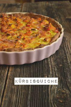 Kürbisquiche Rezept via http://hopefray.blogspot.com/ #Kürbisquiche