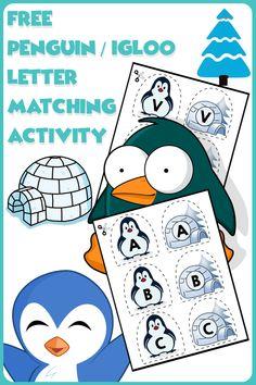 Teach basic literacy skills by having kids match uppercase letters with this FREE game. #literacycenters #alphabet #preschool #preschoolers #preschoolactivities #kindergarten #Homeschooling