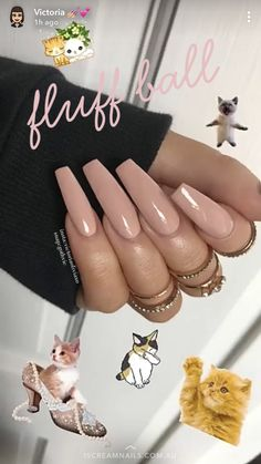 On average, the finger nails grow from 3 to millimeters per month. If it is difficult to change their growth rate, however, it is possible to cheat on their appearance and length through false nails. Glam Nails, Nude Nails, Long Acrylic Nails, Long Nails, Gorgeous Nails, Pretty Nails, Nail Candy, Manicure E Pedicure, Creative Nails