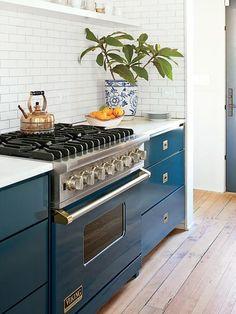 blue kitchen inspo