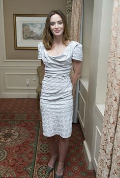 British actress, Emily Blunt, wore our SS15 Gold Label Virginia dress to the Into The Woods press conference in New York last week.