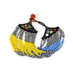 Bracelet Zulu en perles de verre, fait à la main en Afrique du Sud - Les bijoux traditionnels se font accessoires de mode - Ithemba