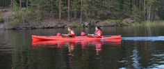 Kayaking Camp in the middle of  Repovesi National park