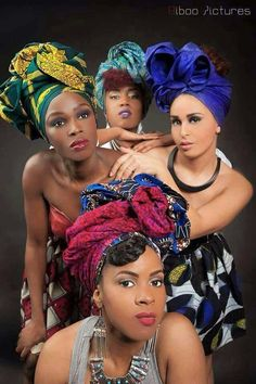 Love these wraps African Inspired Fashion, African Print Fashion, African Prints, Head Wrap Headband, Head Wrap Scarf, African Beauty, African Women, African Life, African Attire