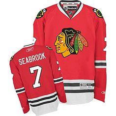 e83274e2e NHL Chicago Blackhawks 7 Brent Seabrook Mens Premier Jersey Red color Size  L >>
