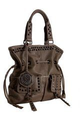 Vince Camuto Ash Leather Stud Mix Drawstring Tote
