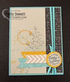 Timeless Textures collage stamp set from the Stampin' UP! 2016 Occasions catalog is great for layering, textures, collages, and that splattered grunge look! Paired with the Going Global set and Going Places paper stack, this is a great manly card! by Patty Bennett at pattystamps.com