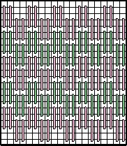 Algerian Filling Stitch Decorative Stitch Diagram 2