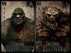 Killer Croc vs Clayface by John Gibson Dc Comics, Batman Comics, John Gibson, Killer Croc, Comic Villains, Im Batman, Batman Stuff, Sketchbook Pages, Batman The Dark Knight
