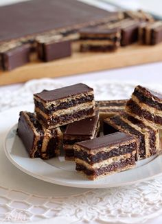 Homemade Chocolate Wafers with nuts, chocolate & coconut Cupcake Recipes, Baking Recipes, Cookie Recipes, Cupcake Cakes, Chocolate Wafers, Homemade Chocolate, Chocolate Recipes, Kolaci I Torte, Torte Cake