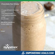 Amazing protein shake recipes by Isagenix. Learn how the amazing Isalean Shake can fuel you with 24 grams of indentured protein as well as needed vitamins and minerals to make a complete meal replacement shake that tastes amazing Protein Shake Recipes, Protein Shakes, Smoothie Recipes, High Protein, Protein Smoothies, Fruit Smoothies, Drink Recipes, Clean Eating Snacks, Healthy Snacks