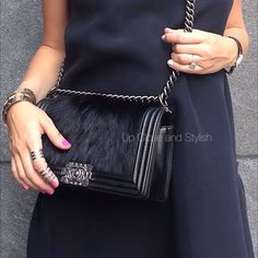 """Up Close and Stylish (@upcloseandstylish) """"#Chanel's 'Boy bag' an early push gift from my dear husband."""""""