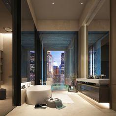 WOW | floating vanity | SCDA Architects