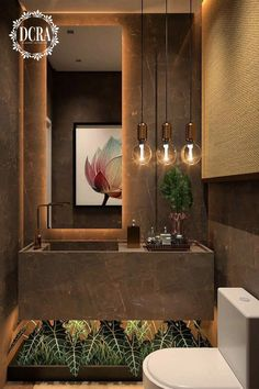 Luxurious lavabo with a beautiful composition! Interior Decorating Styles, Home Decor Trends, Bathroom Design Luxury, Modern Bathroom, Brown Bathroom, 1950s Decor, Interior Design Boards, Toilet Design, Contemporary Decor