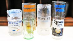 Recycler ses bouteilles en beaux verres - http://www.1001cocktails.com/magazine/1013003/recycler-bouteilles-verres.html