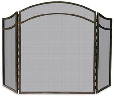 Uniflame® Arched 3-Panel Antique Rust Finish Wrought Iron Fireplace Fire Screen