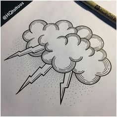 Storm cloud tattoo