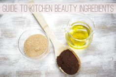 Today's #SundayBeautySecret: There are at least 10 ingredients already in your kitchen that you can use to make #DIYbeauty recipes! | A Guide to 10 Kitchen Beauty Ingredients