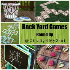 2 Crafty 4 My Skirt: Round Up ~ Back Yard Games -- http://2crafty4myskirt.blogspot.com/2013/06/round-up-back-yard-games.html