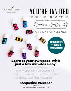 Young Living Premium Starter Kit. Take the 14 day challenge to learn how to make…
