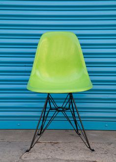Modernica Fiberglass Shell Chair in HUF Green