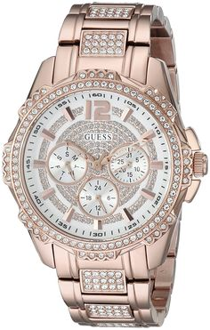 GUESS Women's U0286L2 Rose Gold-Tone Multi-Function Watch >>> You can find out more details at the link of the image.